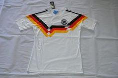 Germany National Team White Jersey 90 Retro Soccer Shirt [F304]