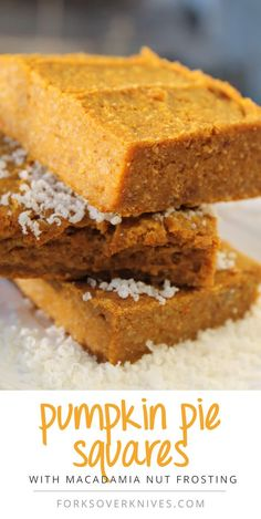 Pumpkin Pie Squares - gluten-free (if certified GF oat flour), vegan, AND delicious!!! =)