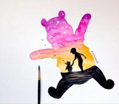Best of Disney Art by Ahmadillustrations Aishaaaaah Einfache . # WinnieThePooh Best Of Disney Kunst von Ahmadillustrations Aishaaaaah Disney Pixar, Deco Disney, Frozen Disney, Disney And Dreamworks, Disney Magic, Disney Movies, Watercolor Disney, Watercolor Art, Disney Paintings