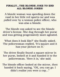 Finally... The Blonde Joke To End All Blonde Jokes
