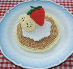 Cute crochet pancake