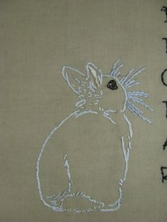 Bunny Rabbit Hand Embroidery Patterns Two Adorable Bunnies for the Price of One