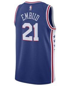 Nike Men's Joel Embiid Philadelphia 76ers Icon Swingman Jersey - Blue XXL
