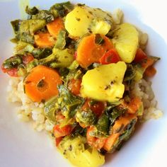 FODMAP curry with kiwi