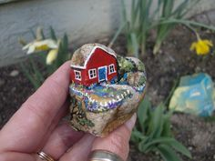 painted rock - House On The Hill