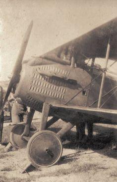 A French marked SPAD S.VII, taken at RFC aerodrome at Lahana