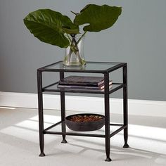 Have to have it. Southern Enterprises Black Metal End Table - $119.99 @hayneedle.com