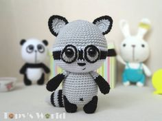 I'm happy to introduce you the Raccoon of theTopy Family. His name is Rony.  © This pattern is an original pattern by Marina Bellai of Topy's World. It is for personal use only and may not be resold or redistributed. If you wish to share this pattern, you may link to this pattern but please...