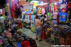 Batu Feringhi night market in Penang - We got our snazzy travel pants here and also a wallet, complete with a facebook request from the vendor, who we still talk to!