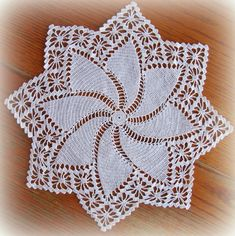 Head on over to the shop and check out the different pinwheel doilies in stock! Crochet Dollies, Crochet Lace Edging, Crochet Doily Patterns, Cotton Crochet, Thread Crochet, Filet Crochet, Crochet Flowers, Crochet Stitches, Crochet Carpet