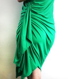 Drape Drape Dress Knit Dress Asymmetrical Dress Knit Party Dress by ULOOOP on Etsy