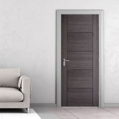 Vancouver Ash Grey Internal Door is Hour Fire Rated and Prefinished - October 26 2019 at Internal Door Frames, Internal Doors Modern, Internal Fire Doors, Grey Doors, Oak Doors, Wooden Doors, Pine Doors, Entrance Doors, Bedroom Door Design