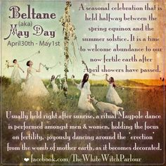 Beltane (aka) May Day Beltane, Fire Festival, Wicca Witchcraft, Green Witchcraft, Magick Spells, Seasonal Celebration, May Days, Season Of The Witch, White Witch
