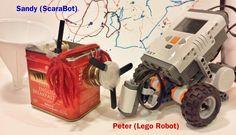 Sandy&Peter (ScaraBot&LegoRobot) #robot #tinkering #scarabot #legomindstorm Lego Robot, Toys, Toy, Games