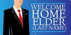 Black Suit Welcome Home Elder Missionary Banner