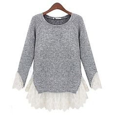 418ef1d9564 Sagetech Women s Big Yards Lace Sweater Tops – USD   22.19 Výroba Krajek