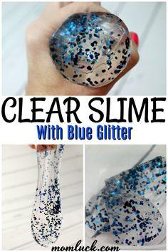 how to make clear glue slime