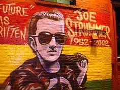 Joe Strummer graffiti, East Village, Manhattan, New York, NYC, USA