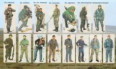 uniformes de soldados argentinos Falklands War, Military History, World War, Photo Art, Baseball Cards, British, Google, World War Two, Weapons Guns