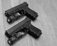 Glock 19 and 23 with Inforce APLs.  Great lights, not sure about holster options for them yet.