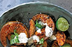 Roasted pumpkin with coriander