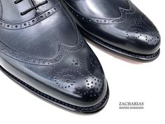 #blueshoes #details #ornaments #brogues #brogueshoes #bespoke #luxuryshoes #zacharias #praha