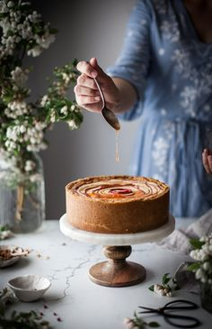 Chevre Cheesecake Pink Peppercorn, Orange,