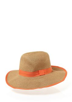 STEVE MADDEN Wide Brim Fedora with Colored Band and Edge
