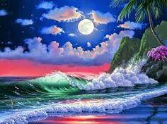 Resultado de imagen para cuadros de el atardecer en la  playa