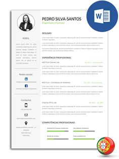 Formato De Resume Currículo Criativo   Modelo 18  Template Cv Template And Creative Cv