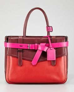 Reed Krakoff Boxer Tote Bag, Crimson...