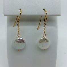 Serena Yellow Gold Plate Pearl Earrings 50% @nyhouseofstyle.com