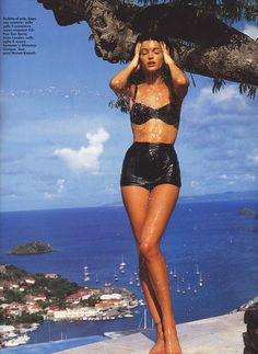 stephanie seymour in a vintage style bikini.... i think i know where this was taken! lol