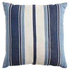 Portica Woven Stripe Pillow - Blue | Pier 1 Imports