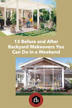 13 Before and After Backyard Makeovers You Can Do in a Weekend Weekend Projects, Diy Projects, Backyard Makeover, You Can Do, Canning, Landscape, Beautiful, Scenery, Handyman Projects