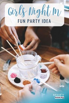 Looking for a fun activity or DIY idea for a girls night in party? Mixify Beauty's nail polish kids allow you to create your own signature polish color with your girlfriends! #girlsnightin #DIYfun #nailpolish #beautyblogger #partyidea