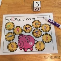 Piggy Bank Articulation:  Fun and interactive way to practice sounds in the speech therapy or at home!