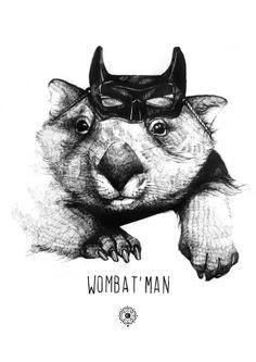 Wombat'man /// Illustration /// Clémence Thienpont