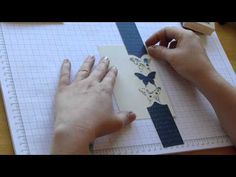 Elegant Butterfly Video Tutorial with Independent Stampin' Up! demonstrator Traci Cornelius www. Card Making Tips, Card Making Tutorials, Card Making Techniques, Butterfly Cards, Butterfly Video, Simple Butterfly, Creative Cards, Cute Cards, Scrapbook Cards