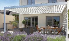 aluminium bioclimatic pergola with mobile slats solisysteme gardens pinterest mobiles. Black Bedroom Furniture Sets. Home Design Ideas