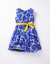 Vintagekleid (Blau Blumenranken)