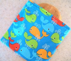 Little Wales in the Ocean Reusable Fabric by Threadbarestitcher, $3.75