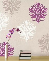 like the colors of this stencil with the wall color www.cuttingedgest...