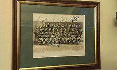 1966 photo of world champion green bay packers framed ,with players autographs.