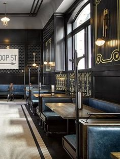 Get inspiration for your bar project! Interior design trends to help to decor your bar! Estilo Interior, Pub Interior, Restaurant Interior Design, Commercial Interior Design, Commercial Interiors, Modern Interior Design, Luxury Restaurant, Restaurant Lighting, Restaurant Interiors