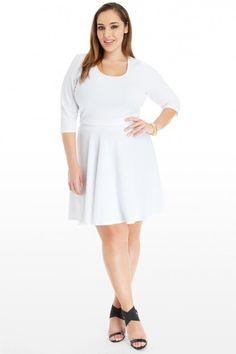 Plus Size Sofia Textured Crop Top | Fashion To Figure
