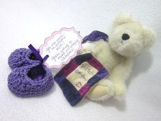 Mother's Day Pregnancy Reveal Baby Slippers by crochetedbycharlene