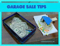 Best garage sale tips found here.  #garagesale #yardsale