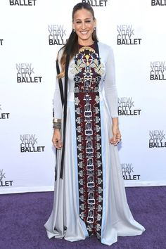 In Mary Katrantzou at the New York City Ballet, 2014 .   - HarpersBAZAAR.com