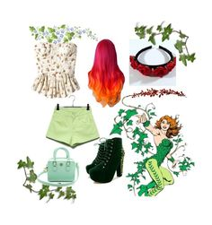 """""""Hipster Poison Ivy"""" by mollyspectorwilliams ❤ liked on Polyvore featuring Tory Burch"""